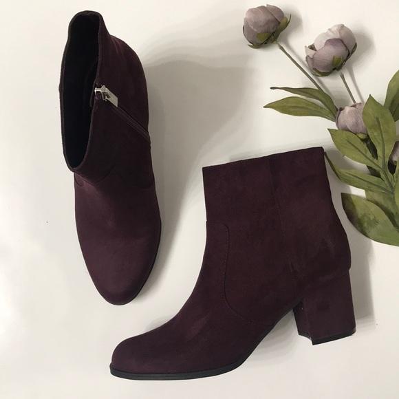 Unisa Shoes   Burgundy Havana Bootie